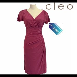 NWT Cleo pink evening cocktail dress size 6